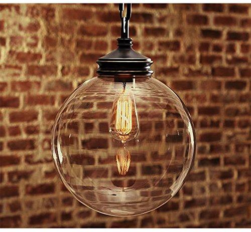 OOFAY Kronleuchter Retro-Kugel Glas Anhänger Lampe Schlafzimmer Esszimmer Beleuchtung schmiedeeiserne Leuchter (3 Light-anhänger Bronze Lampe)
