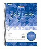 LANDRE 100050063 Collegeblock College 10er Pack A4 80 Blatt liniert mit Rand links und rechts 70 g/m² gelocht Schreibblock Notizblock Briefblock Schulblock