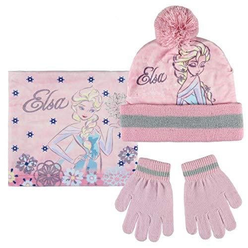 Cerdá conjunto 3 piezas frozen, set sciarpa, guanti e cappello bambino, (rosa 001), unica (taglia produttore: única)