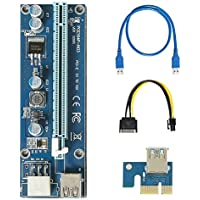 (1pack) PCIE PCI-E 1x to 16x Powered Riser Adapter Carte Mining Maschine Enhanced Extender 60 cm USB 3.0 Cabel SATA 15 pin-6pin
