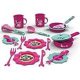 #1018 Disney Minnie Küchenset mit Topf, Geschirr, Besteck und Zubehör • Puppengeschirr Puppenservice Tee Geschirr Kinderküche Spielküche Kinder Spielzeug Set