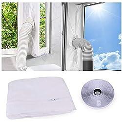 Joint de Fenêtre pour Climatisation Mobiles/Ddéshumidificateurs/Sèche-Linge, Tissu de Calfeutrage de Fenêtres - Fonctionne avec Toutes Les Unités De Climatisation Mobiles (400 CM)