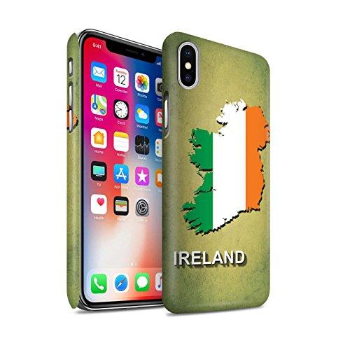 STUFF4 Matte Snap-On Hülle / Case für Apple iPhone 7 Plus / Deutschland/Deutsch Muster / Flagge Land Kollektion Irland/Irisch