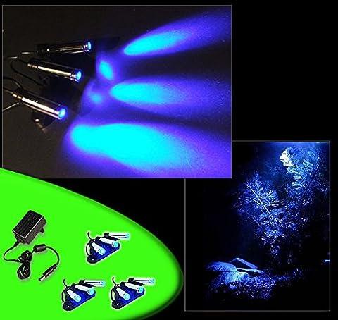 CREATIVE LIGHTS Aquarium Mondlicht, LED 9-fach Spot schwenkbar Komplettset inkl. Netzteil