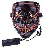 Atimier 2018 Máscara de Halloween LED Light Up Purge Mask Festival Cosplay Disfraz de Halloween