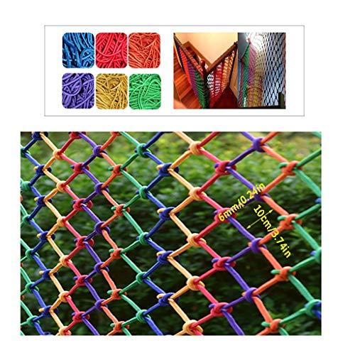 Universal Schutznetz Balkon-Netz, Kindersicherheitsnetz Balkontreppen Zaun-Netz Kletternetz Aus Nylon Farben Dekorationsnetz Waren Netto Anti-Fall-Netz Haushalt Seildicke 6mm/Rastermaß 10cm Multigröß -