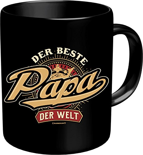 RAHMENLOS Original Kaffeebecher Vater: der Beste Papa der Welt - Im Geschenkkarton 2631