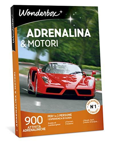 Wonderbox cofanetto regalo per lui- adrenalina & motori - 900 attività adrenaliniche per 1 o 2 persone