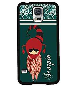 Fuson 2D Printed Sunsign Scorpio Designer back case cover for Samsung Galaxy S5 Mini - D4403