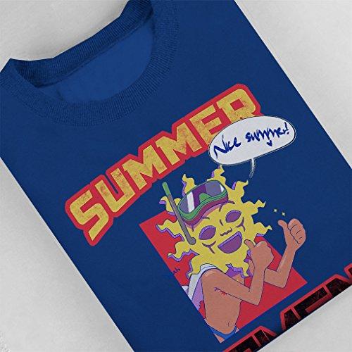 Osumatsu San Summer Kamen Women's Sweatshirt Royal Blue