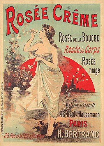 rosee creme Vintage Poster (Künstler: Anonymous) Frankreich C. 1895, Papier, multi, 9 x 12 Art Print -
