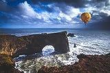 HHYSPA Dipingi con I Numeri per Adulti E Bambini Fai da Te Air Ball Rock Ocean Pigment Canvas Canvas per Adulti Principiante Cornice di Legno 40X50CM