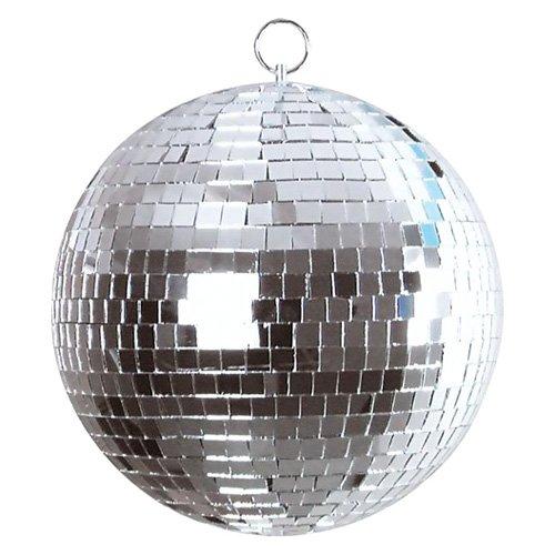 Eurolite Spiegelkugel 50cm | Discokugel für Partyraum, Club, Bar, Disco | Mirrorball mit 10mm Echtglas-Facetten | Mit Halteöse und zweiter Öse zur Fallsicherung | Lückenlos verklebt