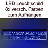 LED Leuchtschild Werbeschild 50x11cm -IHR MOTIV- Wandbild