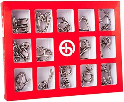 Spieland Spieland Spieland 15PCS  s Jeux Casse-tête Métal Patience Jeu 3D Puzzle Calendrier de l'Avent Remplir pour Adulte   Vieux | Une Grande Variété De Marchandises  0666ac