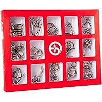 Comparador de precios 15000P 15Pack Rompecabezas Metal Puzzles 3D Juegos de Ingenio Calendario de Adviento para Niños y Adultos - precios baratos