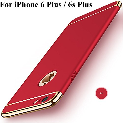 iPhone 6s Plus Hülle,Heyqie 3 in 1 Ultra-thin 360 Full Body Anti-Scratch Shockproof Hard PC Non-Slip Skin Smooth Back Cover Case with Electroplate Bumper For Apple iPhone 6 plus / 6s Plus 5.5