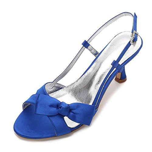 Nuptiale Chaussures Satin Ribbons Mariage 19 Demoiselle Yc Blue wx6nanXq70