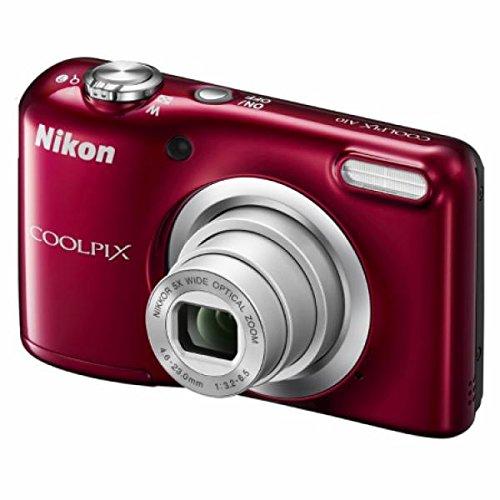 """Nikon COOLPIX A10 16.1MP 1/2.3"""" CCD 4608 x 3456Pixeles Rojo - Cámara digital (Fuegos artificiales, Auto, Corriente alterna, Batería, Cámara compacta, 1/2.3"""", 4,6 - 23 mm)"""