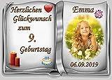 Tortenaufleger Fototorte Tortenbild zum Geburtstag Buchform DIN A5 G29 (Zuckerpapier)