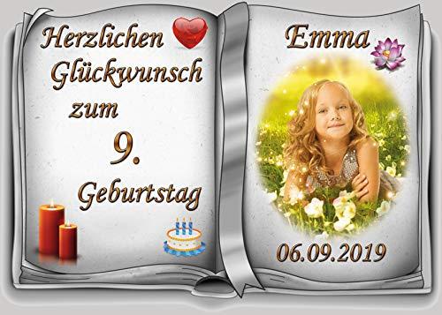 Tortenaufleger Fototorte Tortenbild zum Geburtstag Buchform DIN A5 G29 (Zuckerpapier) (Bild Kuchen)