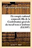 Telecharger Livres congres national corporatif du travail Toulouse (PDF,EPUB,MOBI) gratuits en Francaise