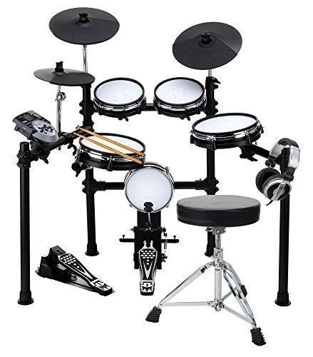 elektronisches schlagzeug fuer anfaenger XDrum DD-530 Mesh Heads E-Drum SET mit Hocker und Kopfhörer (elektronisches Schlagzeug, Kopfhörer-Anschluss, 400 Sounds, Lernfunktion)