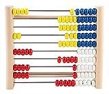 Idena 22066 Zählrahmen aus Kiefernholz, mit 100 farbigen Perlen zum Zählen und...