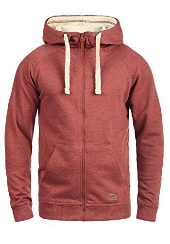 Blend speedy - felpa con zip da uomo, taglia:3xl;colore:wood red (73819)