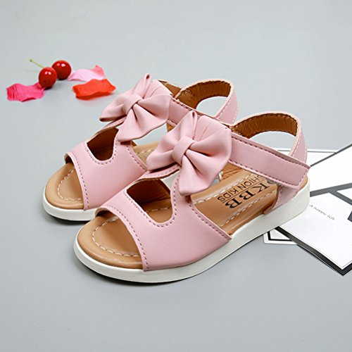 Zhhlaixing Toddler Kids Baby Boys Summer Shoes Bow tie knot Sandals Shoes pink
