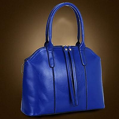 BYD - Femme Sacs portés main Set 4 in 1 Set Couleur pure High Quality PU en Cuir Mutil Function with 1 Portefeuille and 1 Wallet Elegant Fashion School Bag Work Office Bag