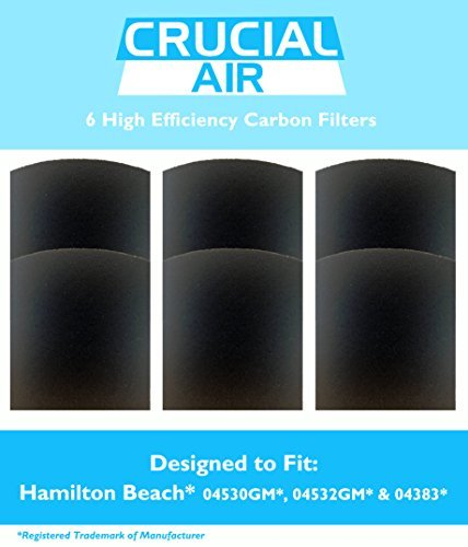 Holmes Filter Carbon (6 Crucial Air Ersatz Carbon Filter Fit Hamilton Beach True Air 04530 GM 04532 GM 04383 04531 GM 04530 F Kartonrückenschilder von Crucial Air)