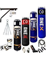 Onex New 4FT_5Ft Junior/Adult PUNCHING BAG Filled Heavy Punch bags Set Boxing Sack Bags Gloves, Skipping Rope Ladies-Gents