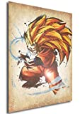Instabuy Poster Dragon Ball Wanted Goku SS3 - A3 (42x30 cm)