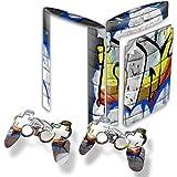 Graffiti 10024, Designfolie Sticker Skin Aufkleber Schutzfolie mit Farbenfrohem Design für PlayStation 3 Super Slim