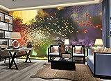 Mbwlkj 3D-Effekt Moderne Individuelle Fototapete Große Hände Malerei Wandbild Geheimnisvoll Fantastisch Vogel Bäume Hintergrundbild-250Cmx175Cm
