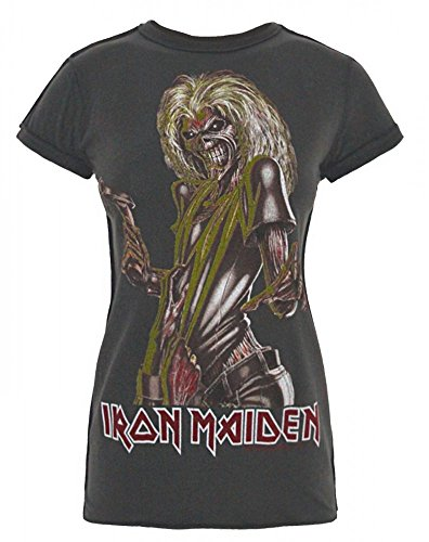 Amplified Iron Maiden Killers Women Camiseta charcoal L