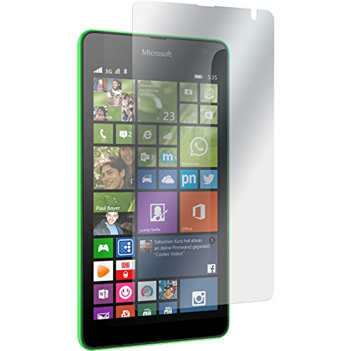 PhoneNatic 2er-Pack Bildschirmschutzfolien matt kompatibel mit Microsoft Lumia 535