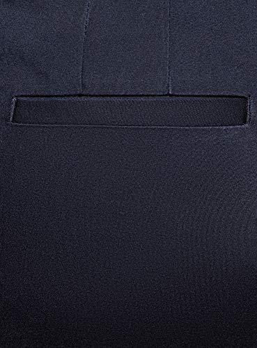oodji Ultra Donna Pantaloni Basic Estivi, Blu, IT 44 / EU 40 / M
