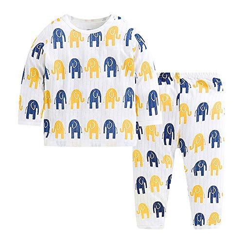 Conjunto de pantalón de camisa de manga larga para bebé Pijama con...