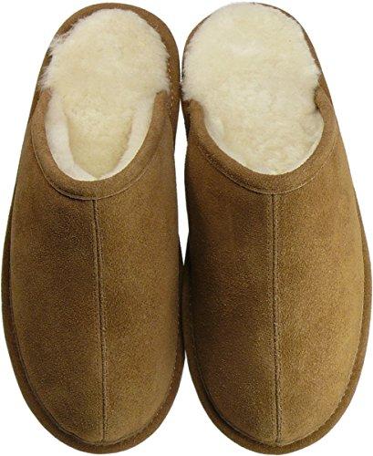 Extra dicke Pantoffeln aus Lammfell in 2 Farben Braun
