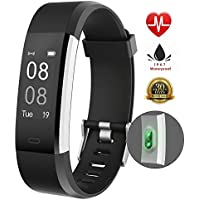 Fitness tracker IP67, impermeabile, Smart Bracelet, Smart Watch, contapassi con cardiofrequenzimetro, Black