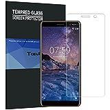 Verre Trempé Nokia 7 Plus, TopACE Film Protection en Verre trempé écran Protecteur Vitre- ANTI RAYURES - SANS BULLES D'AIR -Ultra Résistant Dureté 9H Glass Screen Protector pour Nokia 7 Plus (2 x Protèges-Écran)
