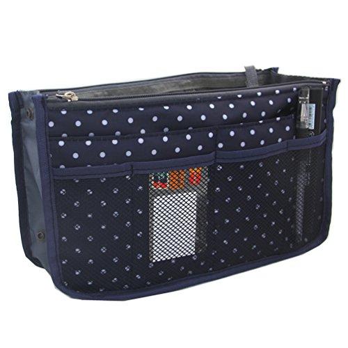 samtaiker-handbag-organiser-liner-tidy-travel-cosmetic-pocket-insert-12-pockets-wave-point