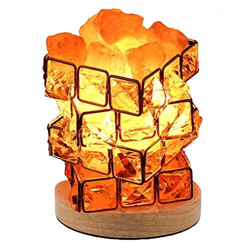 Moda Rubik'S Cube Crystal Salt Lámpara De Mesa Lámpara De Purificación...
