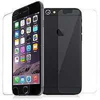 Lot de 2 Verres Avant arrière iPhone 7 Plus, iPhone 8 Plus 5.5'' NOVAGO Films protection écran en verre trempé résistant et fin