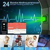 Mpow Fitness Tracker mit Pulsmesser, Wasserdicht Fitness Armbänder Intelligente Armbanduhr Aktivitätstracker Pulsuhr Schrittzähler Uhr Smartwatch Anruf SMS Beachten für iOS Android Handy - 3