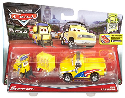 Disney / Pixar Cars WGP Pit Crew Jeff Pitty & John Lassetire Fahrzeug Mattel Disney / Pixar
