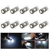 MUSGIC 10X 5-SMD 5050 T10 LED Standlicht Canbus Mit Decodierfunktion Fehlerfrei Weiß