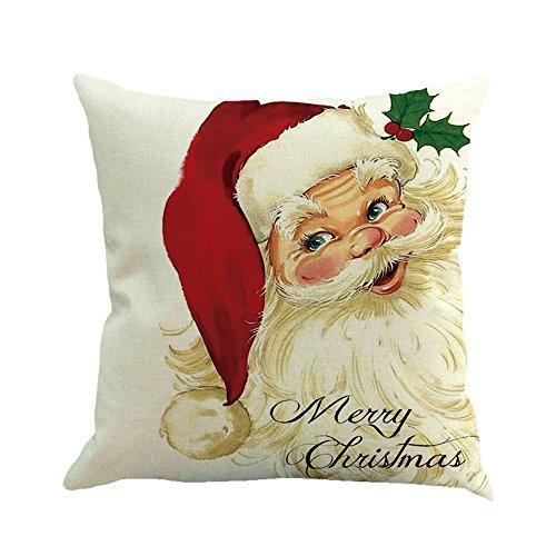(Lucky Mall Weihnachtsdruck Mode Färben Kissenbezug, Sofa Bett Home Decor Kissenbezug Kissenbezug)